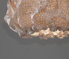 décoration design luminaire en bois - Suspension Miss Maple le textile de bois par Elisa Strozyk - design allemand
