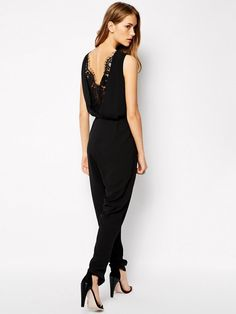 Supertrash Jumpsuit with Lace Detail Back // #Shopping