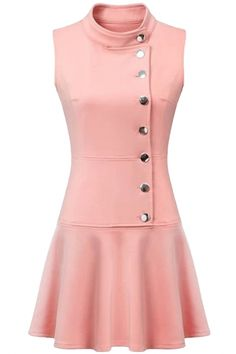 Essential+Pink+A-Line+Dress
