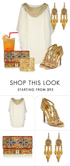 """""""FIESTA"""" by outfits-de-moda2 ❤ liked on Polyvore featuring Marchesa, Tory Burch, Dolce&Gabbana, Ben-Amun and Isharya"""