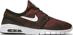 Nike SB Stefan Janoski Max PRM Skate Shoes Mens 11.5 Black Red White 807497 016 #Nike #Skateboarding