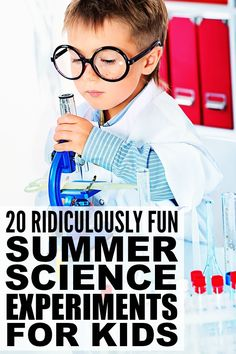 If you're looking for new and exciting summer activities for kids to keep your little ones engaged while school's out, check out this collection of [ridiculously fun] summer science experiments for kids! They make for fabulous family fun, and are fantastic boredom busters for long summer days!