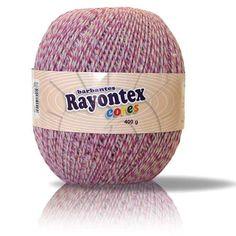 Barbante com fios torcidos de várias cores para trabalhos de crochê e tricô 4/6 - 6 Fios Composição: 85% Algodão, 15% Poliéster Fabricante: Rayontex