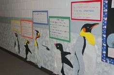 Penguin Reports   -- diff. type of penguin  --make a poster after researching