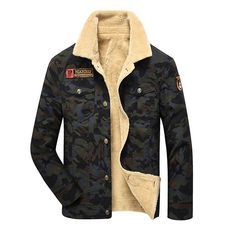 Shop now http://a-sheek-boutique.myshopify.com/products/camouflage-denim-jacket-men-winter-fur-fleece-mens-jeans-jacket-black-khaki-army-flight-military-coat-tactical-single-breasted?utm_campaign=social_autopilot&utm_source=pin&utm_medium=pin A Sheek boutique new products.