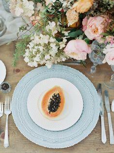 Romantic Bridal Inspiration in Citrus Tones by Luna de Mare Photography | Wedding Sparrow