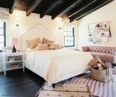 charleston's bedroom / love ceiling and dark floors