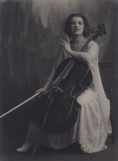 Guilhermina Suggia (1885-1950). One of the first women to make a professional career of playing the cello. A child prodigy, Suggia began to study the cello in her native Portugal at age 5, graduated from Leipzig Conservatory at age 18, and went on to become one of the most celebrated musicians of her era.