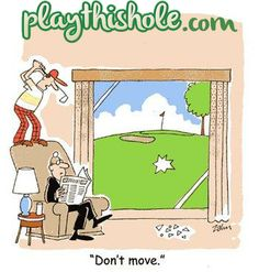Hilarious collection of golf jokes, golf cartoons and golf videos Funny Golf Pictures, Funny Pics, Funny Stuff, Hilarious, Golf Course Reviews, Crazy Golf, Funny Postcards, Cartoon Jokes, Cartoons
