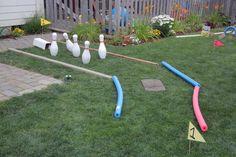 DIY Mini Golf Course in the backyard - it has a sand trap!