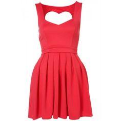 Vestido Decote Costas Coração