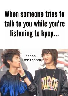 Shhhh~ I am listening to Kpop! LOL Minho and Jonghyun from Shinee