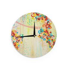 "Ebi Emporium ""Summer in Bloom"" Wall Clock"