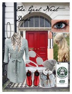 """""""Th Girl Next Door"""" by frozen-rain on Polyvore featuring LE3NO, Dr. Martens, Michael Kors, Aéropostale, Acne Studios, Helly Hansen and Rimmel"""