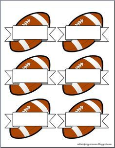 Salt and Pepper Moms: Football Snack Tag Printables