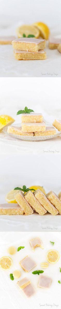 Delicioso brownie de limón / http://sweetbakingdays.com