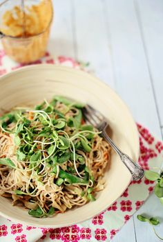 Soba Noodles1 Soba & cabbage noodle salad with spicy peanut sauce