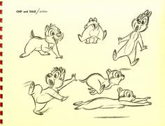 Michael Sporn Animation – Splog » How To Draw Chip & Dale