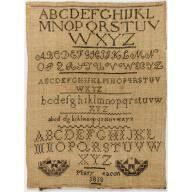 Sampler, Mary Beacon, 1818