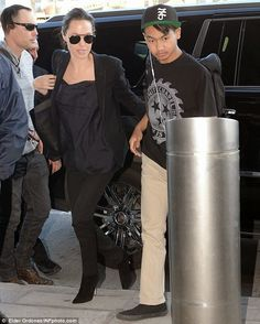 She was spotted arriving at LAX with eldest child Maddox, and older brother James Haven, after pictured departing from JFK International Airport in NYC Brad And Angelina, Angelina Jolie, James Haven, Celebs, Celebrities, Brad Pitt, In Hollywood, Fitness, Fashion