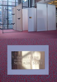 """THERE IS ALWAYS SNOW ON THE MOON, """"Temporary embassy of the Nomadic State"""", Spielart Festival Munich 2015"""