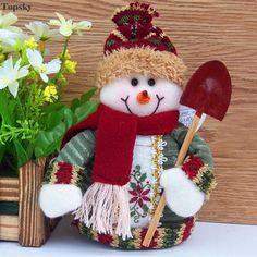 New Christmas Ornament toys Best Gift Xmas Tree House Decoration Santa Claus Snowman Reindeer doll children doll from Bling Bling Deals. Christmas Sewing, Felt Christmas, Country Christmas, Christmas Snowman, Christmas Time, Christmas Ornaments, Inflatable Christmas Decorations, Snowman Decorations, Snowman Crafts