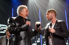 Tom Jones Photos Photos - Tom Jones (L) and Ronan Keating toast onstage for the Arthurs Day Guinness 250th Anniversary Celebration held at the XXX on September 24, 2009 in Dublin, Ireland. The Arthur's Day Event celebrates the 250th anniversary of Arthur Guinness signing the lease on the St. James Gate Brewery. The festivities begin in Dublin at 17:59 local time with a toast to Arthur Guinness and continue as fans come together to experience live music events in over 30 venues across Dublin…