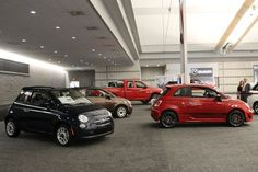 The 2013 Fiat 500 display at the 2013 #PghAuto Show