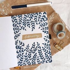 February Leaves Bullet Journal Theme by Nabaa Bullet Journal Guide, February Bullet Journal, Bullet Journal Monthly Spread, Bullet Journal Quotes, Bullet Journal Notebook, Bullet Journal Layout, Bullet Journals, Journal Diary, Journal Inspiration