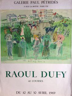 DUFY RAOUL- SUBLIMISSIME LITHOGRAPHIE POUR L'AFFICHE DE LA GALERIE PETRIDES 1969