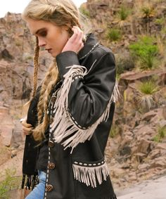 Double D Ranchwear Black Texas Ranger Jacket !!
