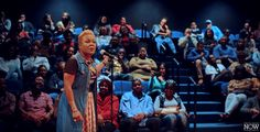 """Sha'Condria """"iCon"""" Sibley performs """"Working Title"""" at the 2016 Bayou City Slam at the Alley Theater..."""
