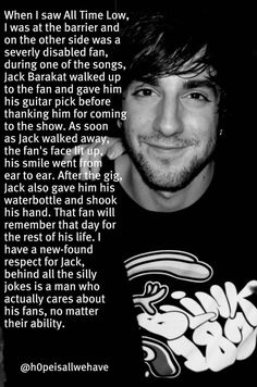 Jack Barakat is the sweetest man you'll ever meet. When you see videos of him he's constantly acting like a child and he's very immature, that's why we love him. But meeting him is truly special, he shakes your hand and holds it for a while and stares into your eyes. He does this with every fan too. It's like he makes sure you know that he cares about you. I look forward to meeting him again :)