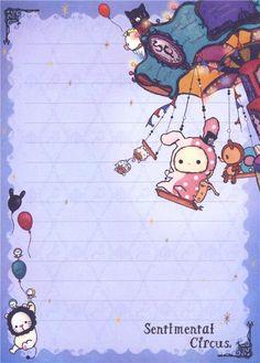 Sentimental Circus Note Pad animal carousel 3