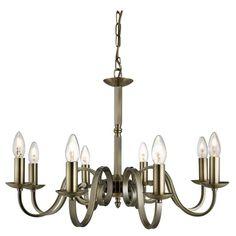 1508-8AB RICHMOND - 8-ram.sviečkový luster - antická mosadz