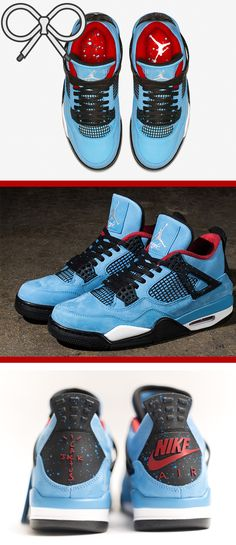 6100a95f544114 From the Travis Scott x Air Jordan collaboration. Blue and red. Cactus jack.
