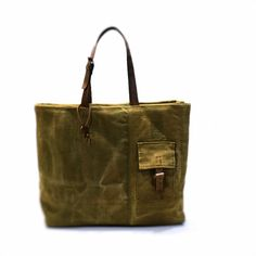 Canvas bag tote bag recycled canvas bag canvas tote bag by enocska