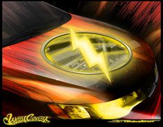"""If you've seen the Batman-themed Kia Optima, you'll know that Kia Motors America is teaming with DC Comics to help raise awareness for DC's """"We Can Be Heroes"""" famine relief campaign. We'll be unveiling four new Justice League-inspired custom rides! Here is a sneak peek at the Kia Forte Koup themed after The Flash…"""
