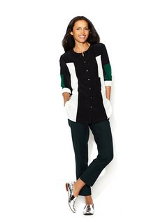 Elizabeth and James Essential Suiting Winston Cropped Pant