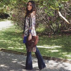 #fashion #style #ootd #gabimay #blogger #moda #estilo #lookdodia #instagram #kimono #flare #fringes #franja #boho
