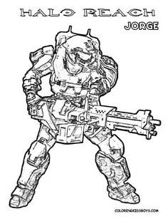 halo coloring book picture of jorge