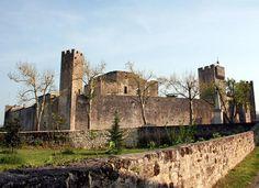Larressingle est réputée pour abriter un curieux village médiéval. L'enceinte presque ovale est défendue par de hautes et étroites tours carrées. A l'intérieur, les maisons s'appuient sur la courtine. Au centre se trouve le donjon du seigneur, l'abbé de Condom. Juste en face il y a une curieuse église plus haute que large. C'est une véritable cité miniature
