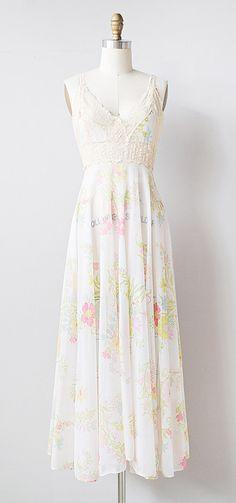 vintage 1970s sheer floral long nightgown | #vintage #1970s #floral