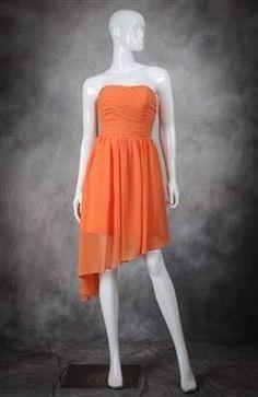 Orange bridesmaid dress for a camo and orange themed wedding!!