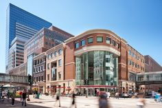 Minneapolis, USA; Sept 9, 2011: Target headquarters on the corner of Nicollet Mall and South Ninth Street in Minneapolis, Minnesota. Pedestrians enjoy the early Autumn for shopping and restaurants along Minneapolis's famous traffic restricted mall.