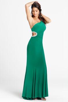 Jersey One-shoulder Floor-length Prom Dress