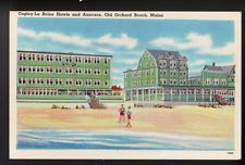 OLD ORCHARD BEACH MAINE ME Copley-La Reine Hotels Annexes Old Postcard PC