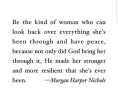 God brings us through  (Morgan Harper Nichols)