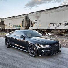 Black on Black | Audi RS5  Photo: @ronnierenaldi  Wheel Specs:  ADV5.0 M.V2 CS  Exposed Hardware  Finish: Matte Black  21x10.5 | 21x11  www.thewheelindustry.com  adv1 thewheelindustry adv1newfriends audi rs5