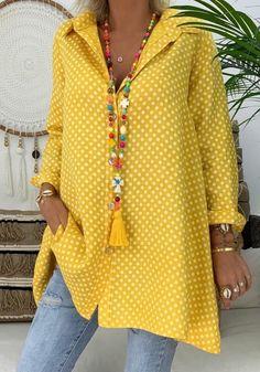 Plus Size Shirts, Plus Size Blouses, Casual Tops For Women, Blouses For Women, Ladies Tops, Women Tunic, Fashion Star, Women's Fashion, Vintage Blouse
